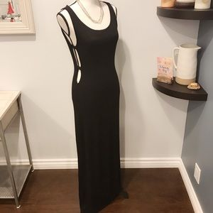 Forever 21 black cutout maxi dress